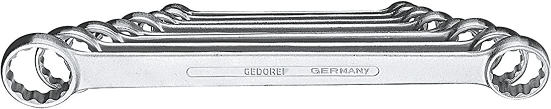 GEDORE 4-8 Flat Ring Spanner Set 8 pcs 6-22 mm