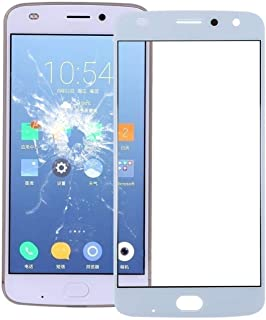 Mobile Phones Communication Accessories Front Screen Outer Glass Lens for Motorola Moto Z2 Play (Black) (Color : White)
