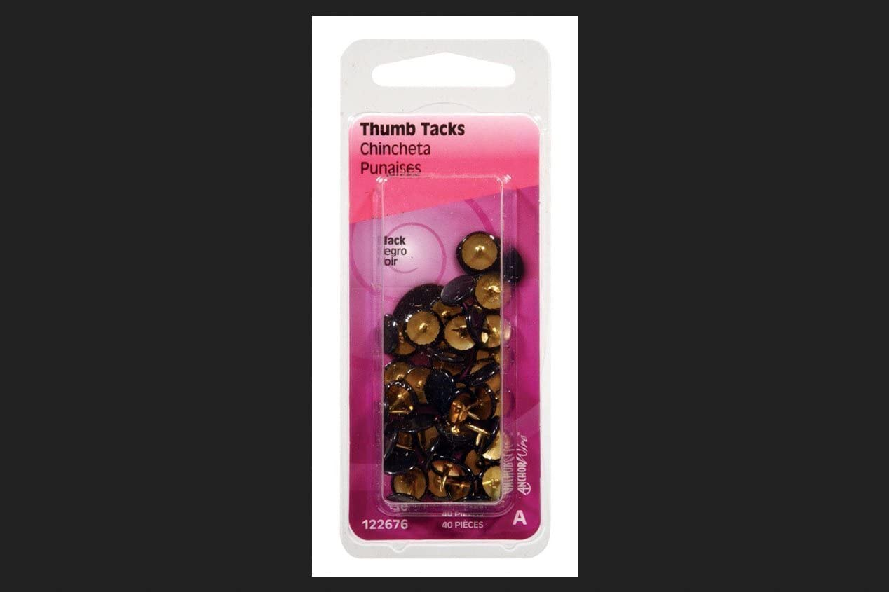 Thumb TACK Soldering Black CD20 by online shopping Single 122676 HILLMAN MfrPartNo