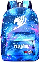Speaking Life Noctilucence Backpack Fashion Cartoon Fairy Tail Shoulders Bag Starry Sky Bag for Boys&girls (blue)