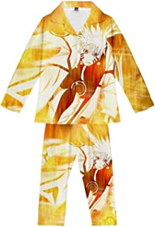 Pyjama Sets Anime Uchiha Sasuke Ninja Teens Loungewear Soft Comfortable Pajamas Top & Bottoms