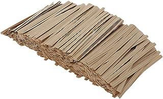 P Prettyia ツイストタイ ラッピングタイ ワイヤータイ 結束用タイ クラフト紙 装飾材料 約1000個 全5サイズ - 8cm