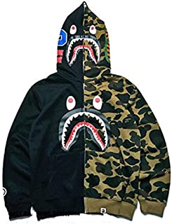 New Bathing Ape Jacket Shark Head Camo Full Zip Hoodie Long Sleeve Jacket