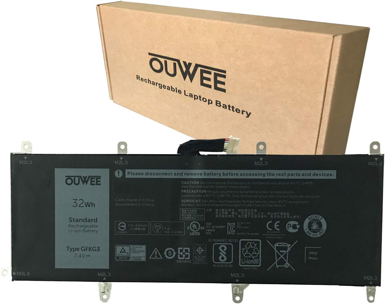 OUWEE GFKG3 Laptop Special Campaign Battery Compatible with 505 It is very popular 10 Venue DELL Pro