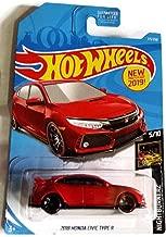 Hot Wheels 2019 Nightburnerz 5/10 - Red 2018 Honda Civic Type R #171/250 - U.S. Mainline Card