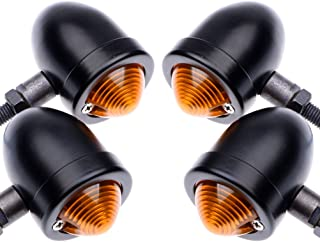 4x Black 4pcs Motorcycle Bullet Turn Signal Lights Front Rear Turn Signals Indicator Blinkers Amber Lights for Harley Honda Yamaha Suzuki Kawasaki
