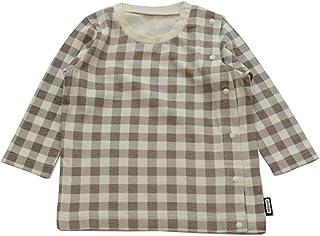 [アルトタスカル] 前開き 長袖Tシャツ 全開き 医療ケア バリアフリー ベビー キッズ 子供服 ベビー服 ボタン 男の子 女の子 トップス