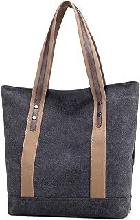 women Canvas Tote Bag Canvas Shoulder Bags Casual Tote Purses handbags Work Shopping Bag