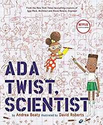 Ada Twist, Scientist is a book about an adorable young STEM-loving girl. Click to read the full review on TheMakerMom.com.