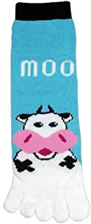 I love Cows Collection(Adult Toe Socks Cow Moo)