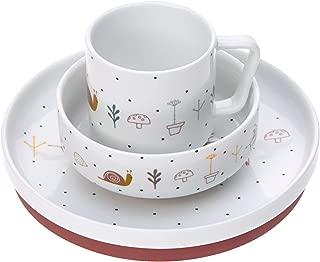 L/ÄSSIG Sch/üssel Porzellan Sch/älchen Kindersch/üssel mit Silikonring rutschfest Kindergeschirr// Little Chums Cat