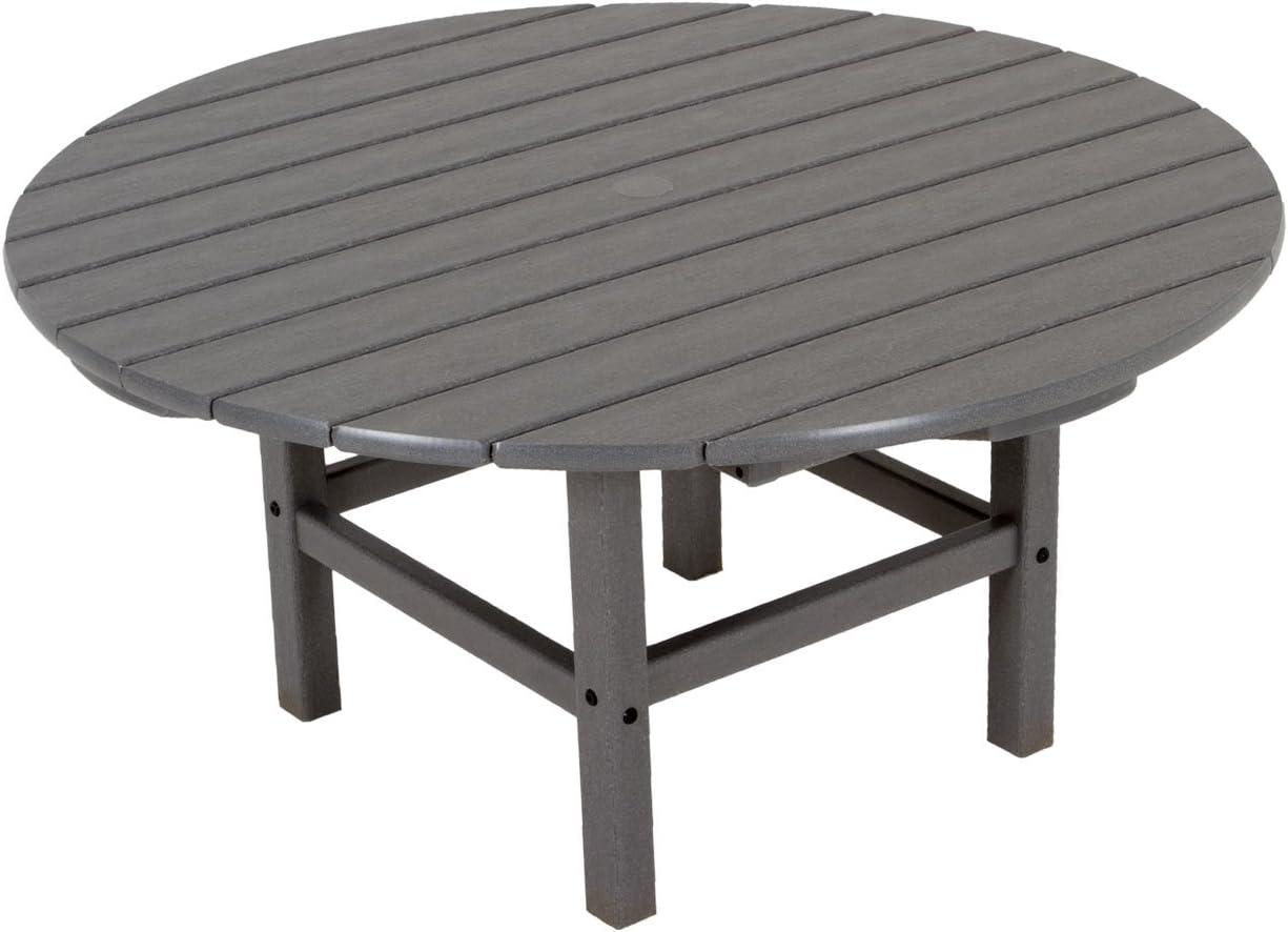 Slate Grey /& RCT38GY Round 38 Conversation Table POLYWOOD AD420GY Modern Adirondack Chair Slate Grey