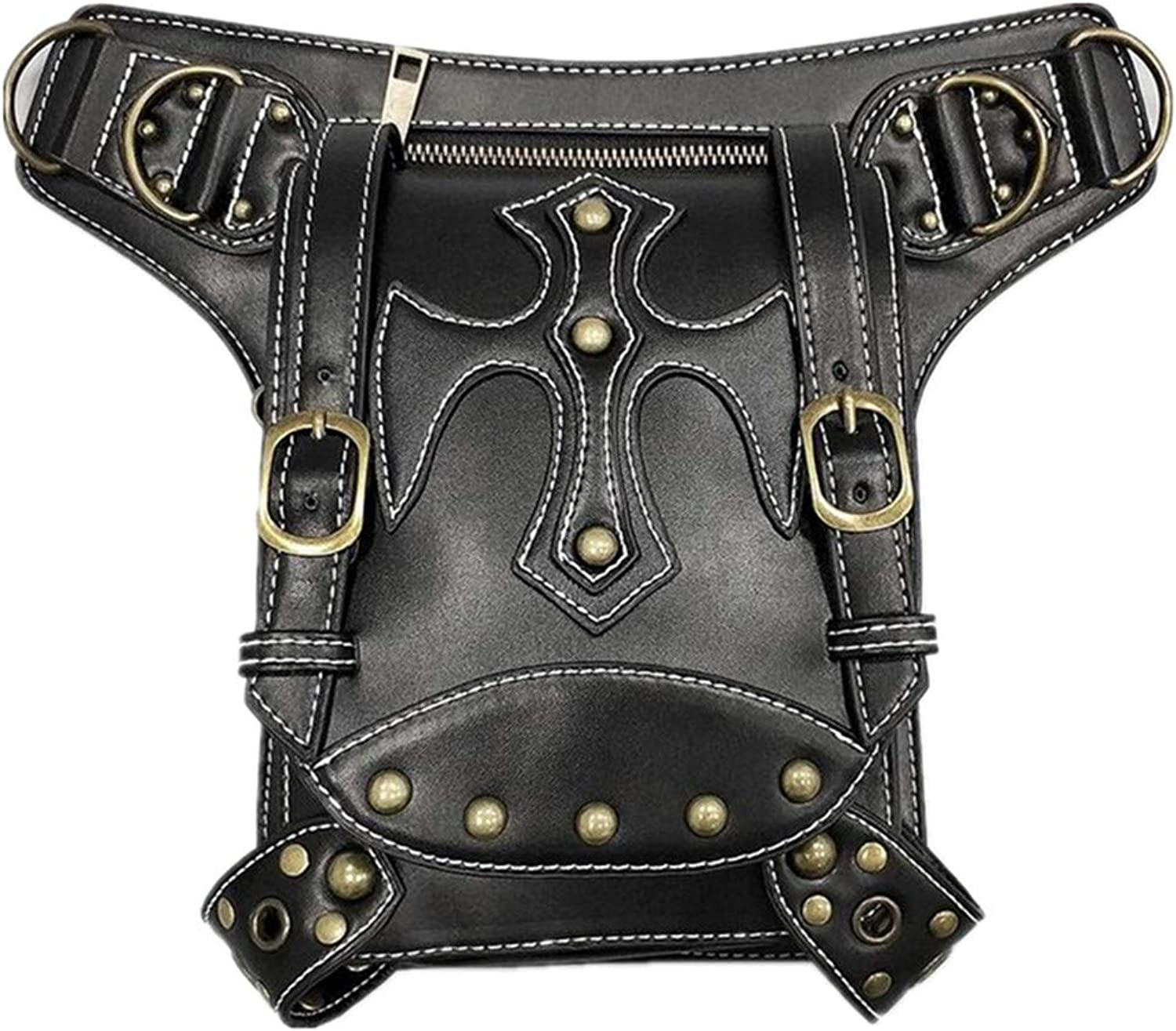 Punk theme Women's Europe and America Steampunk Retro Shoulder Bag Diagonal Pockets