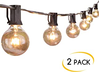 2-Pack 25Ft Outdoor Patio String Lights with 25 Clear...