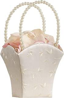 Lillian Rose Elegant Ivory Wedding Flower Girl Basket