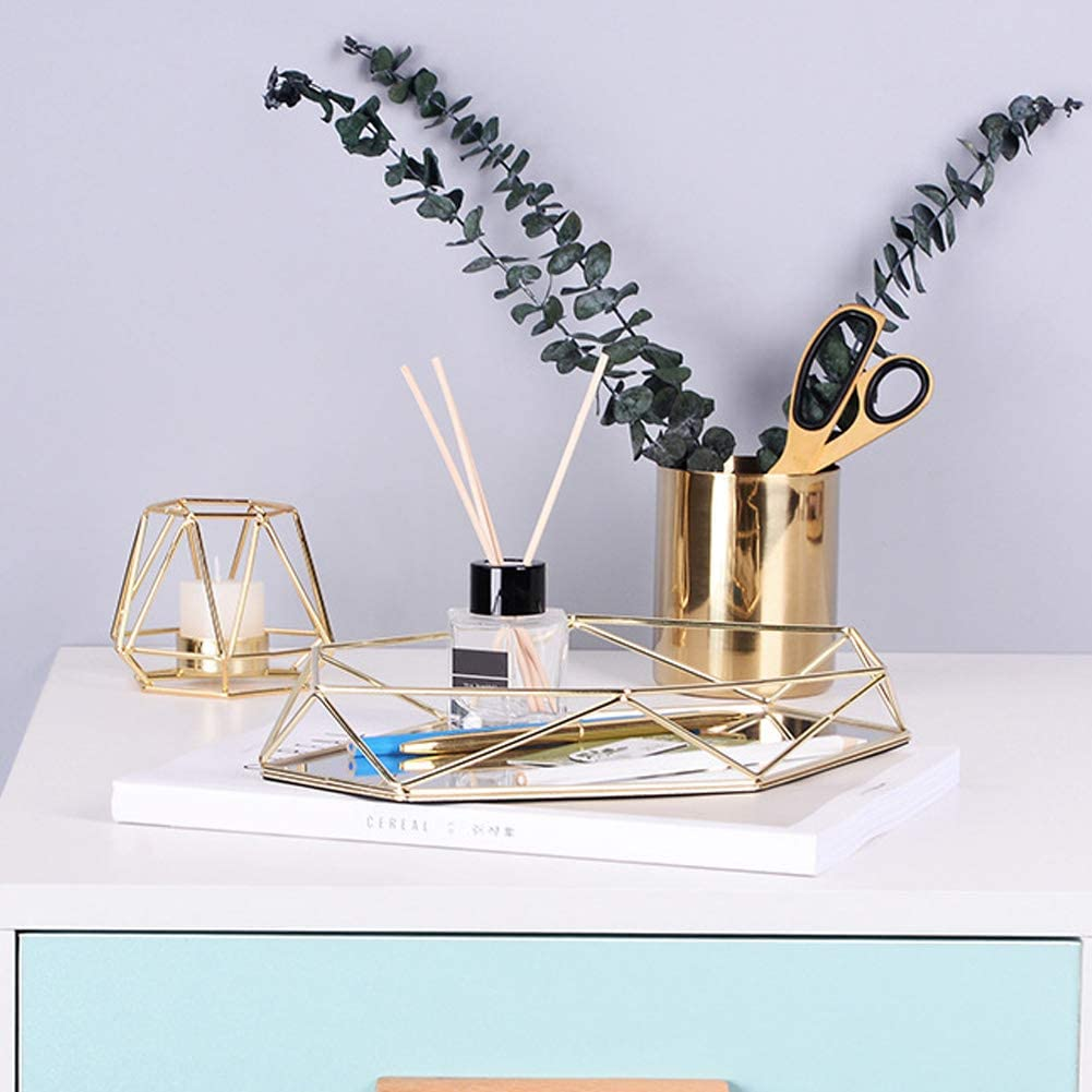 Evonecy Makeup Tray Household Sexangle Recommendation Manufacturer regenerated product Jewelry Jewelr Organizer