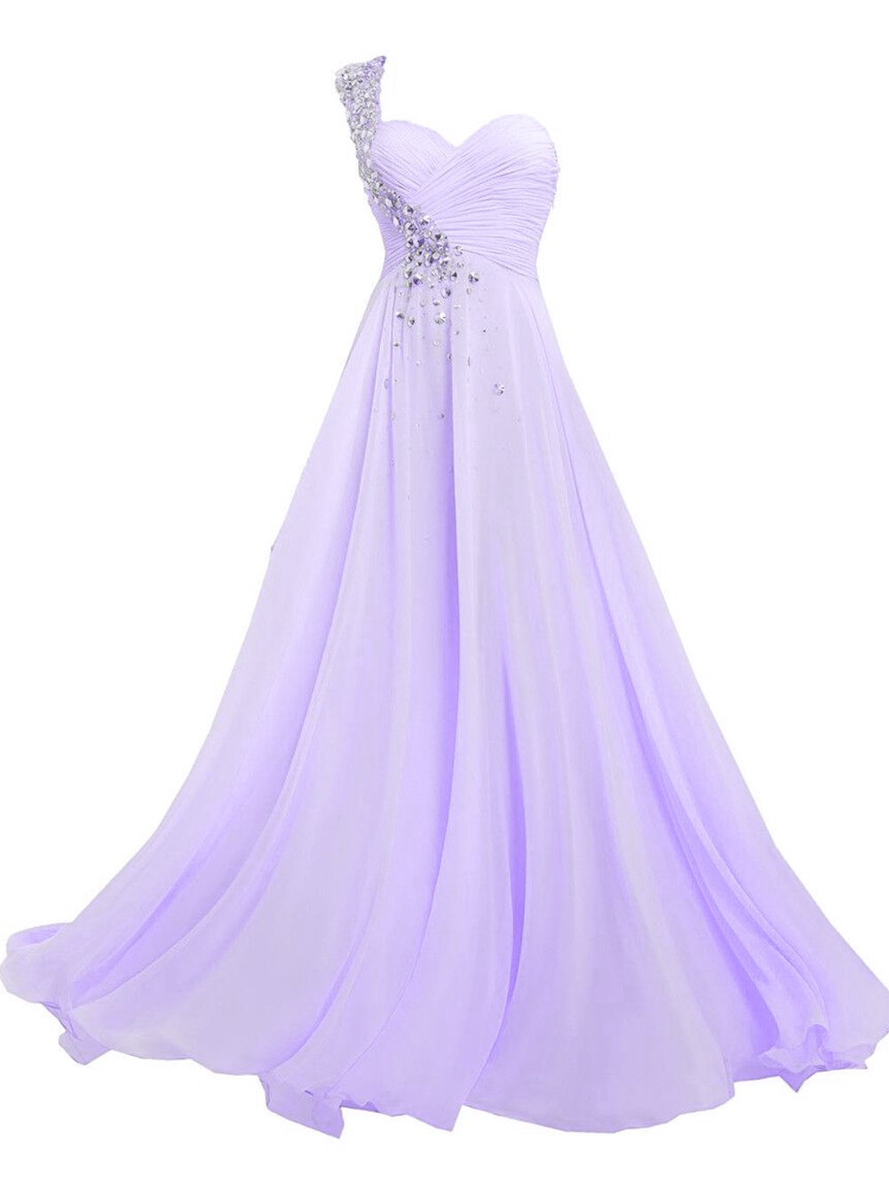 Available at Amazon: JAEDEN Bridesmaid Dresses Prom Dress Long Chiffon One Shoulder Evening Gown Party Dress