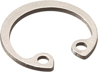 Standard Internal Retaining Ring, Tapered Section, DIN 1.4122 Stainless Steel, Passivated Finish, Meets DIN 472 Specifications, 21mm Bore Diameter, 1mm Thick, Made in US (Pack of 5)