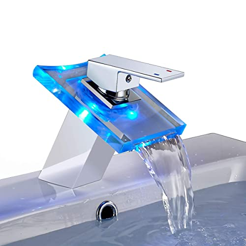 FLG Modern Single Handle/&Hole Vessel Basin Bathroom Vanity Sink Faucet Brushed Nickel Mix-up