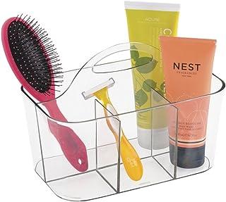 mDesign Panier de douche et bain mDesign pour shampooing, revitalisant, savon - Transparent