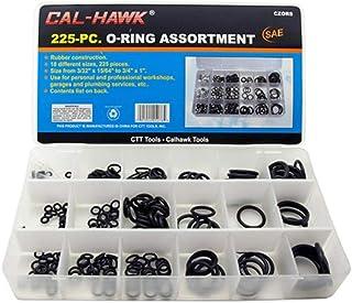 Cal Hawk CZORS 225 O-Ring Assortment Kit SAE Pneumatic Air Rubber Hydraulic Tool Set