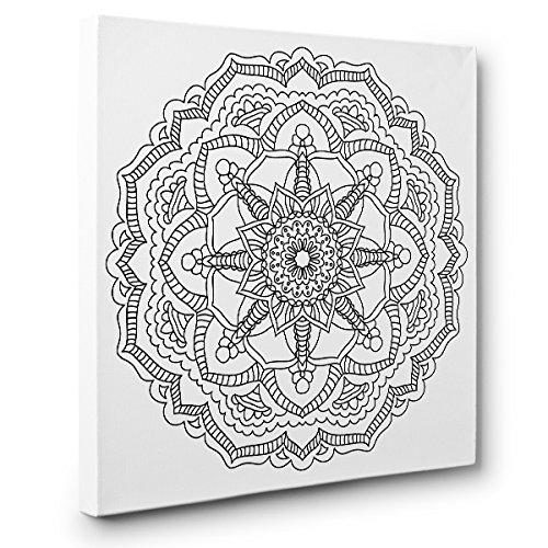 - Amazon.com: Mandala Art Therapy Coloring Canvas Home Decor: Handmade