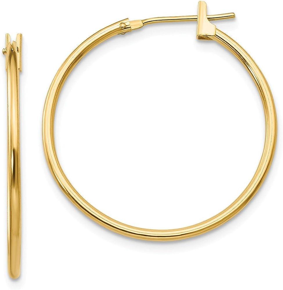 14k Yellow Gold 1mm Hoop Earrings Ear Hoops Set Fine Jewelry For Women Gifts For Her