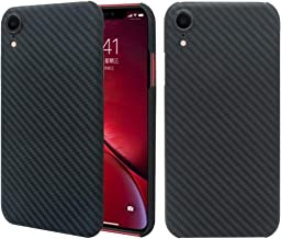 iPhone XR Case, 0.7mm Ultra Thin Real Aramid Fiber [Real Body Armor Material] Carbon Fiber Pattern Protective Case Cover for Apple iPhone XR 6.1inch 2018 Release (Matte Black)