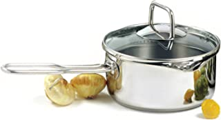 Norpro 601 KRONA 1.5 Quart Vented Sauce Pan with Straining Lid, Stainless Steel