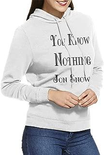 You Know Nothing Jon Snow Women Hooded Sweatshirt Sweater Hoodie