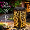Solar Lantern Outdoor Lights for Decorative Atmosphere Hanging Garden Lantern Cylindrical Table Lamp Night Light Warm Lighting for Courtyard, Party, Walkway,Terrace, Garden, Lawn