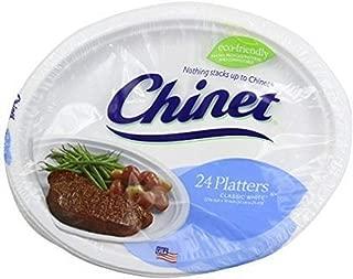 Chinet Premium  12 5/8 x 10-Inch Paper Platters, 24 ct - 2 Pack