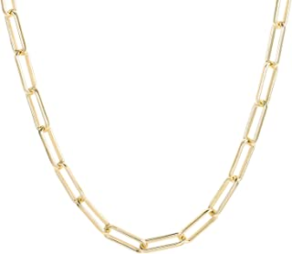 BOUTIQUELOVIN 14K Real Gold Chain Necklace for Women Men Dainty Hypoallergenic Link Chain with Lobster Clasp Fashion Jewelry Gift for Lovers