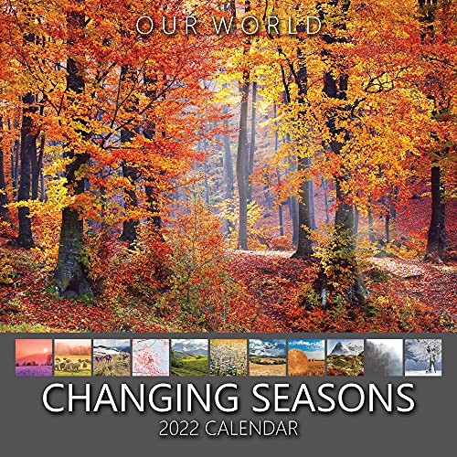 Our World Changing Seasons 2022 Wall Calendar – UK Christmas Gift Stocking Filler. Nature & Wildlife Photography Monthly Planner. Large Hanging Grid Organiser for Office, Family & Kitchen