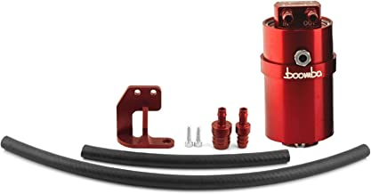 Boomba Racing Stage 1 Oil Catch Can Kit CCV Red for 2013+ Ford Focus ST