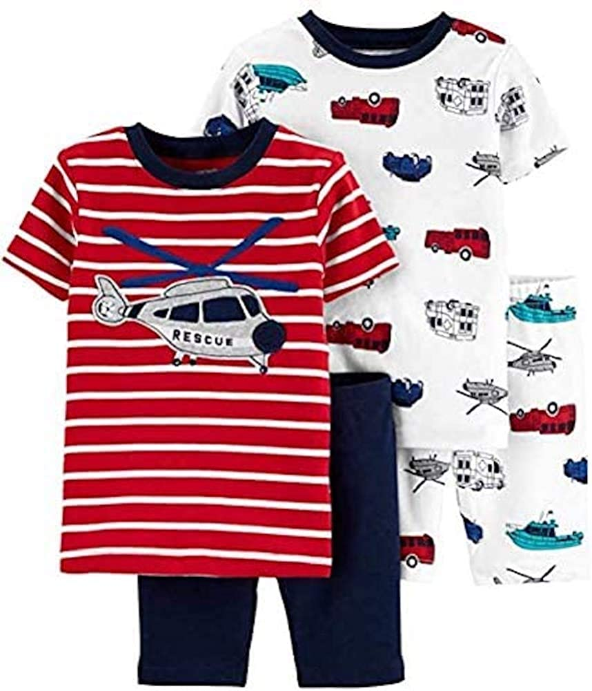 Carter's 4-Piece Max 44% OFF Toddler and Deluxe Baby fit Pajamas Sung Cotton Boy's