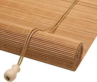 Japanese-Style Bamboo Roller Window Shades, Roll up Blinds for Kitchen Bedroom Indoor Outdoor, 50cm/60cm/70cm/80cm/100cm Wide (Size : 45X80cm)