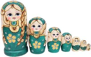 5pc Bambole russe di nidificazione di Natale che impilano i regali dei