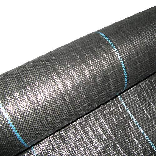 Masgard® Bändchengewebe 100 g/m² Bodengewebe Unkrautfolie Verschiedene Abmessungen hohe UV-Stabilisierung (3,00 m x 10,00 m = 30 m² (gefaltet))