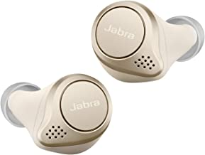Jabra Elite 75t Earbuds – Passive Noise Cancelling Bluetooth Headphones with Long Battery Life for True Wireless Calls and Music – Gold Beige