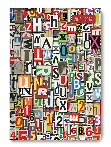 Collegetimer Pocket Letters 2015/2016 - Schülerkalender A6 - Weekly - 224 Seiten