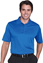 Monterey Club Mens Dry Swing Fish-Eye Texture Polo Shirt #1089