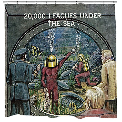 20.000Meilen Unter dem Meer Duschvorhang von Sharp Shirter, Polyester, multi, 180 cm x 188 cm(Standard)
