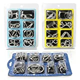 Teenitor Brain Teasers for Kids, 24 Pieces Wire Puzzles,IQ Toys Brain Teaser Toys Metal Wire Puzzles IQ Test Mind Game Toys Gift for Kids and Adults Shipping by FBA