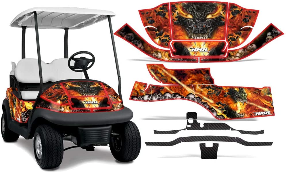 AMR Racing San Antonio Mall Golf Cart Graphics with Compatible kit Translated Sticker Decal