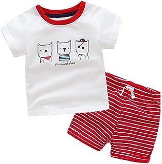 LittleSpring夏 子供服 tシャツ ショートパンツ カジュアル セット 男の子 半袖 トップス パンツ スウェット 上下セット 夏服