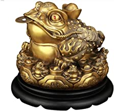 Decorations, Pure Copper Bafang Lai Cai Jin Toad Lucky Decoration, Three-legged Jin Chan Opening Gift Home Feng Shui Decor...