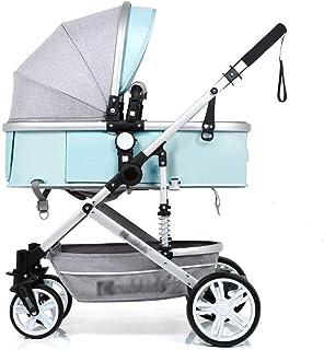 Baby Stroller, Baby Car, High Landscape Stroller, Can Sit Reclining Shock Folding Folding Stroller, All Seasons (Color : E)