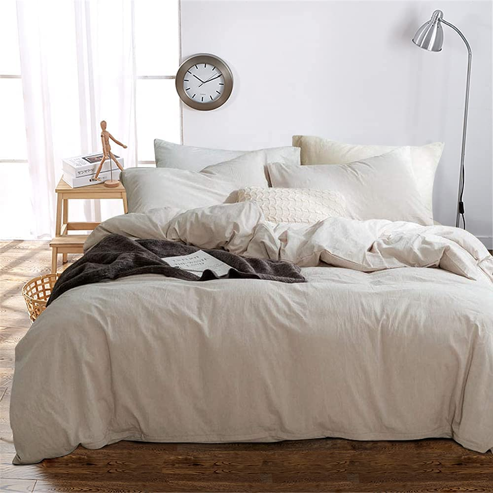 Luxury Solid Color Duvet Cheap mail order specialty store Cover 100 price Queen Bedding Set Beige