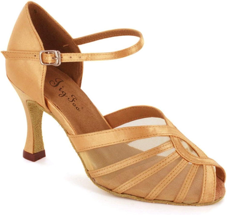Latin Latin Latin Dance Schuhe für Erwachsene Tanzschuhe für modernen sozialen Tanz Weiche Anti-Rutsch Tanzschuhe am Ende des  9884f2